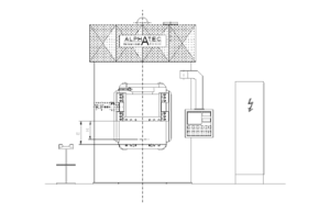 Doppelständer, Rahmenpresse, Hydrauliksystem